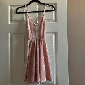 Baby Pink Velvet Dress